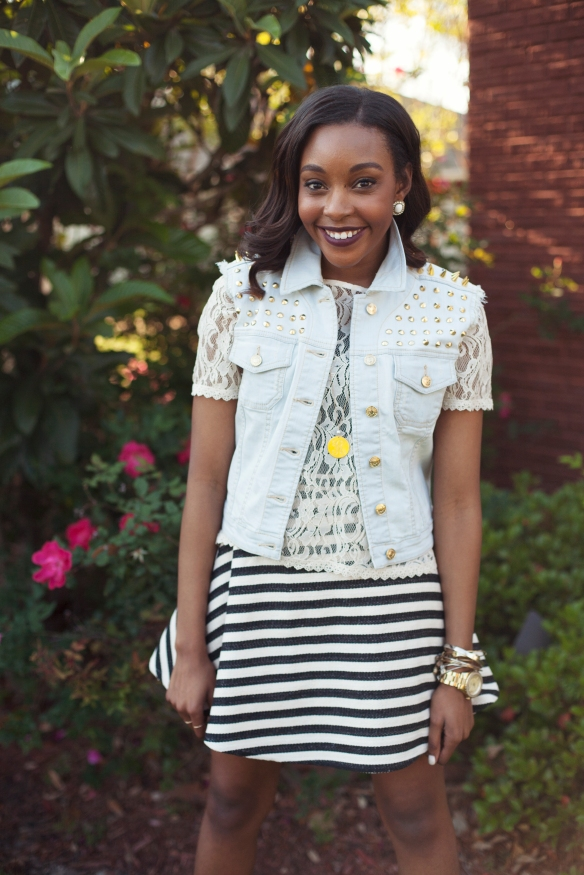 Stripes, Denim & Lace
